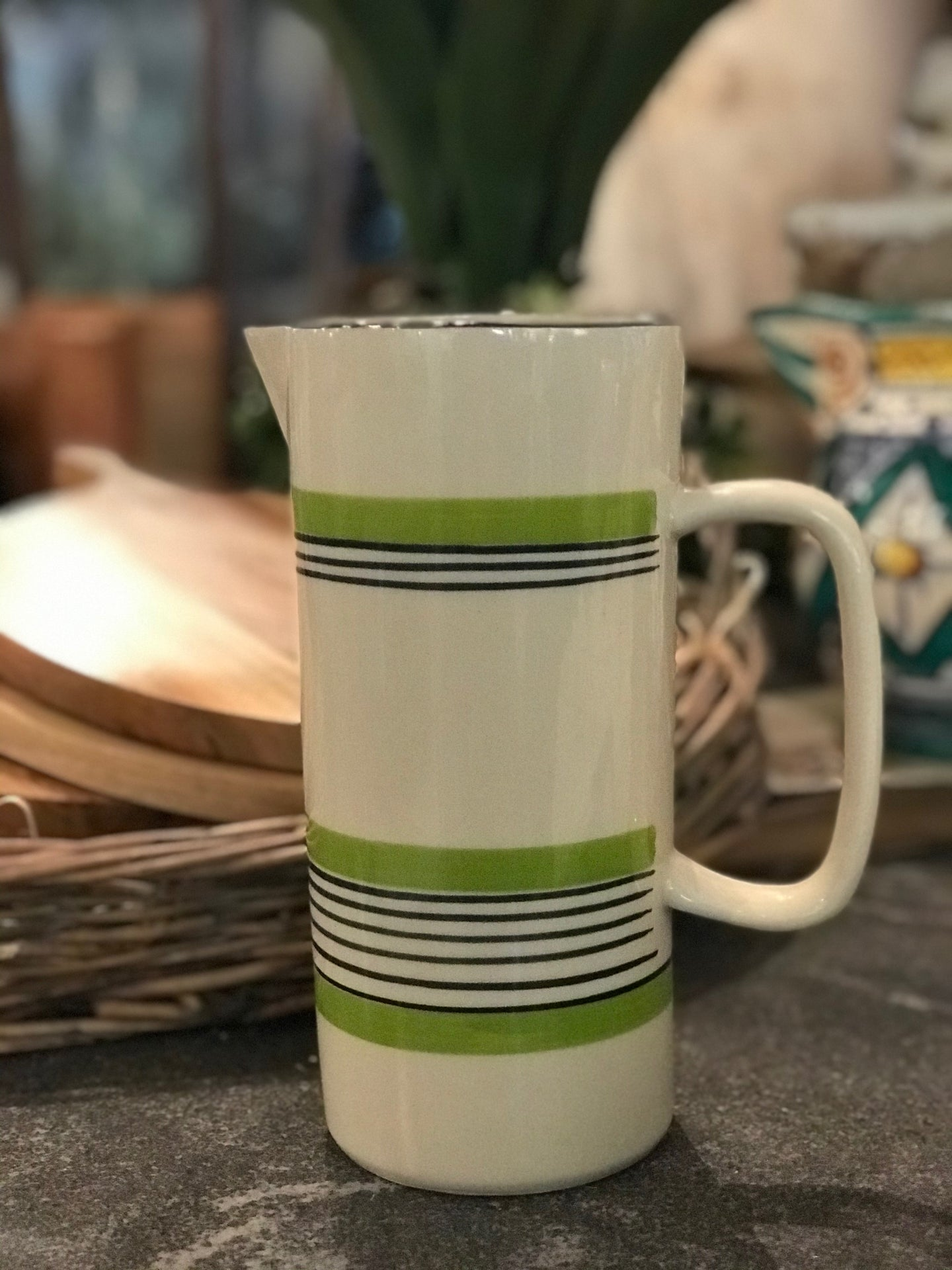 Chic green Pitcher