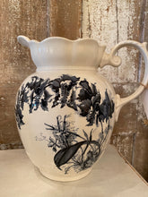 Load image into Gallery viewer, Vintage Blue and White Ironstone Pitcher