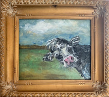 Load image into Gallery viewer, Original Handpainted Black Cow
