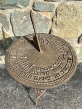 Load image into Gallery viewer, Vintage Metal Garden Sundial
