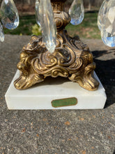 Load image into Gallery viewer, Vintage Brass/Crystal Balance of Justice Scale