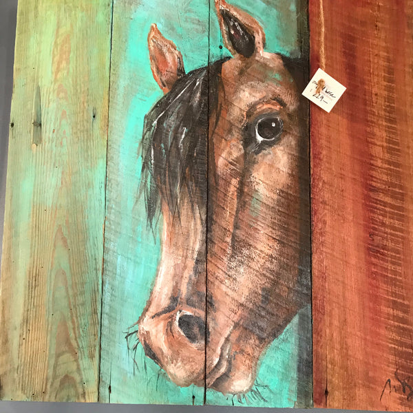 Original Hand Painted Horse Picture