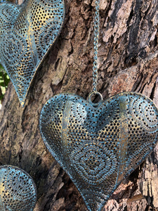 Beautiful Metal Filagree Heart