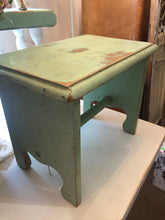 Load image into Gallery viewer, Vintage Green Stool