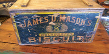 Load image into Gallery viewer, Vintage James D Masons Wood Box w/Lid