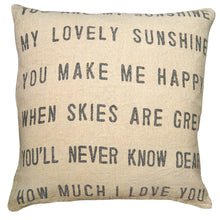 Load image into Gallery viewer, Sugarboo Linen YOU ARE MY SUNSHINE Pillow