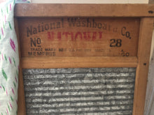 Load image into Gallery viewer, Vintage Zinc Washboard