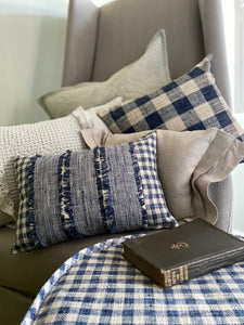 French Country Blue Accent Pillow