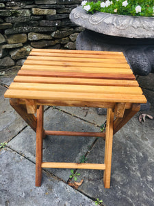 Folding Wood Slat Table