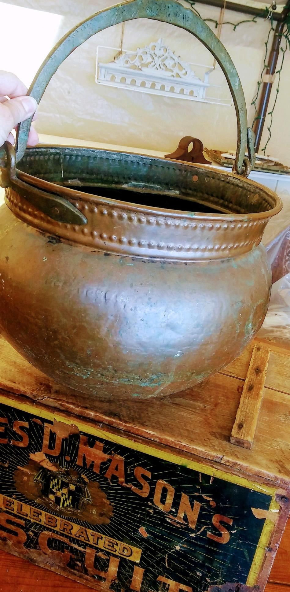 Hammered Brass Kettle