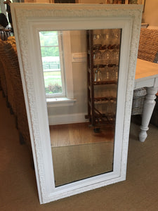 Farmhouse White Framed Mirror