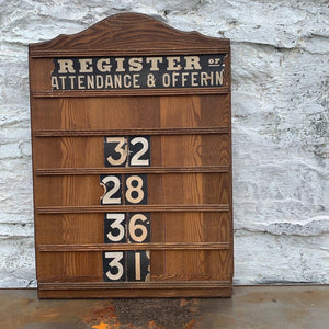 Genuine Vintage Church Register
