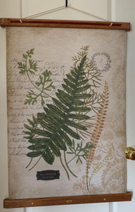 Fern Canvas Print on Wood Stretcher