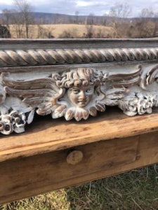Beautifully Detailed Hand Carved Wood Shelf