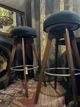 Load image into Gallery viewer, Midcentury Modern Pair of Swivel Stools