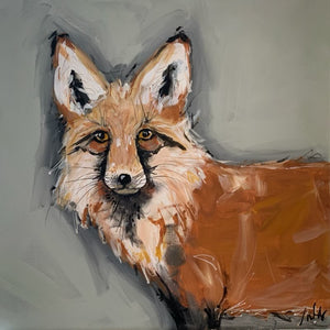 Fox Original Hand Painted on Gallery Canvas