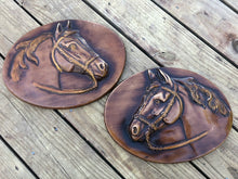 Load image into Gallery viewer, Pair of Fantastic Vintage Equestrian Plaques