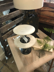 Wood Black and White Cake Stands