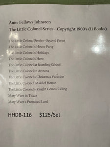 "1900's Anne Fellows Johnston ""The Little Colonel Series"" Book Set"