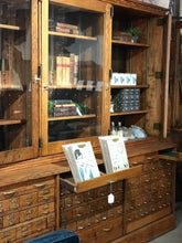 Load image into Gallery viewer, Vintage hardware store wall unit