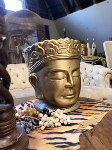Pair of Large Buddha Head Statues