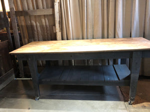 Grey Work Table on Casters