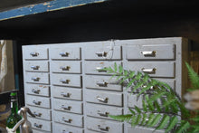 Load image into Gallery viewer, 36 Drawer Vintage White Cabinet