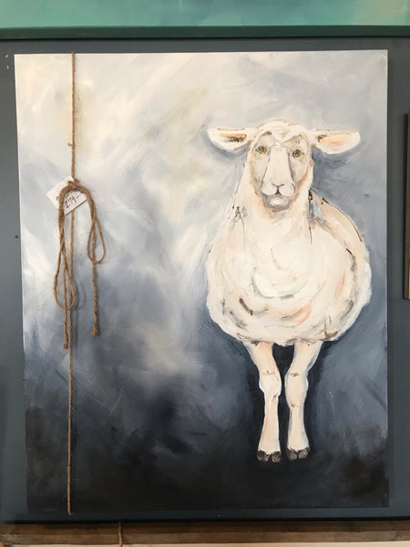 Original Hand Painted Sheep on Canvas