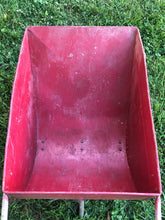 Load image into Gallery viewer, Vintage Red Metal Garden Cart