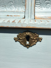 Load image into Gallery viewer, Vintage Oak Painted Carved Chest