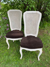 Load image into Gallery viewer, Pair of Vintage Cane Chairs
