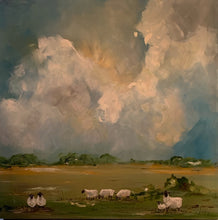 "Load image into Gallery viewer, Original on Birch ""Sheep Pasture"""