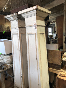 Pair of Vintage Stately Columns