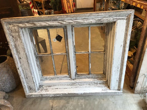 Vintage Two-Sided Window in Stand