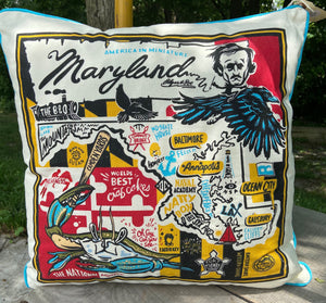 Maryland Themed Pillow