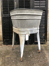 Load image into Gallery viewer, Wheeling Single Vintage Wash tub on a stand