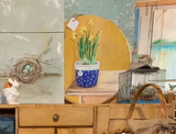 Load image into Gallery viewer, Hand Painted Original of Potted Daffodils