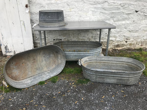 Galvanized Oval Tub On Sale!