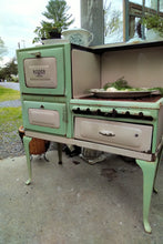 Load image into Gallery viewer, Vintage Wide Enamel Stove