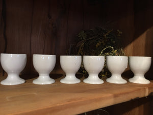 Set of six egg cups