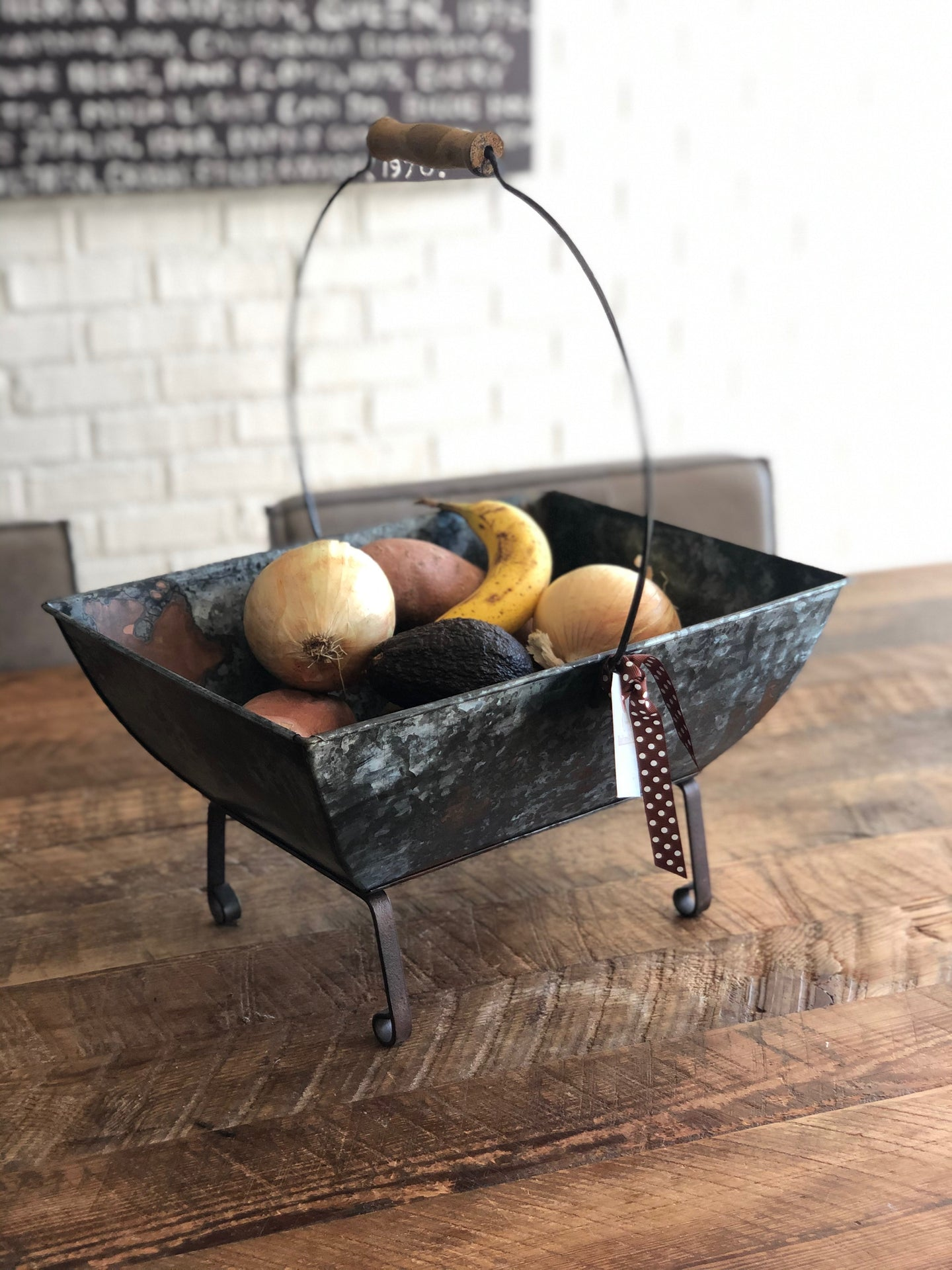 Industrial Chic Metal Caddy