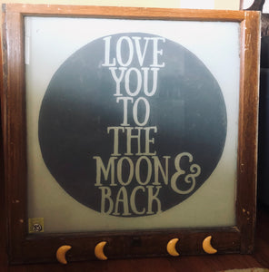 Super Markdown Love you to the moon and back window