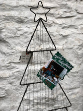 Load image into Gallery viewer, METAL HOLIDAY CARD TREE