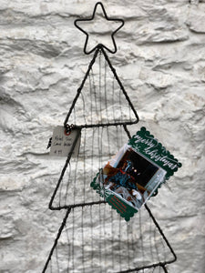 METAL HOLIDAY CARD TREE