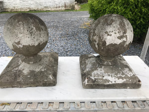 WOW Markdown! Pair of Vintage Concrete Finials