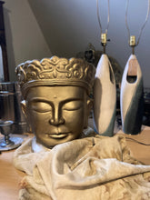 Load image into Gallery viewer, Pair of Large Buddha Head Statues