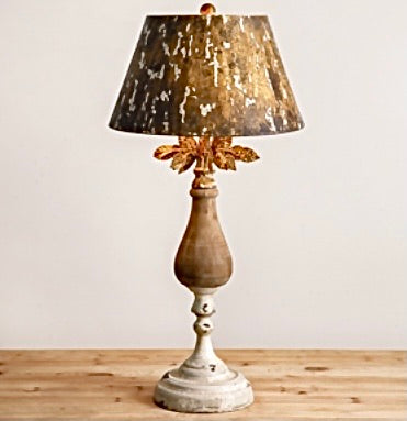 Stunning metal and wood lamps