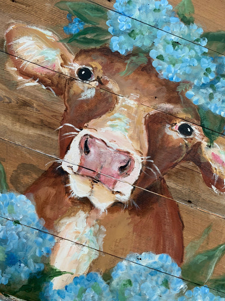 Original Molly Susan Strong Cow Painting