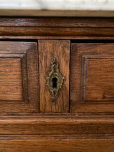 Load image into Gallery viewer, Vintage French Belgium Oak Chest with Marble Top