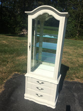 Load image into Gallery viewer, Vintage Lighted French Provincial Display Cabinet